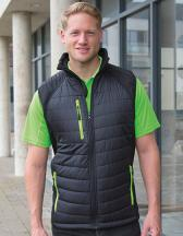 Recycled Black Compass Padded Softshell Gilet
