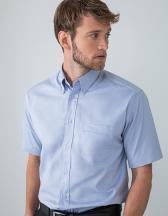 Men`s Short Sleeved Pinpoint Oxford Shirt