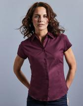 Ladies` Short Sleeve Fitted Stretch Shirt